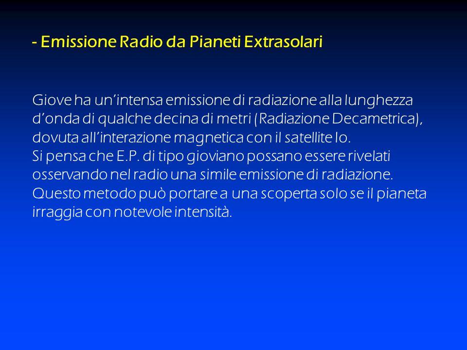- Emissione Radio da Pianeti Extrasolari