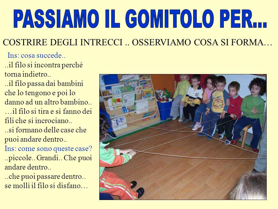 PASSIAMO IL GOMITOLO PER...