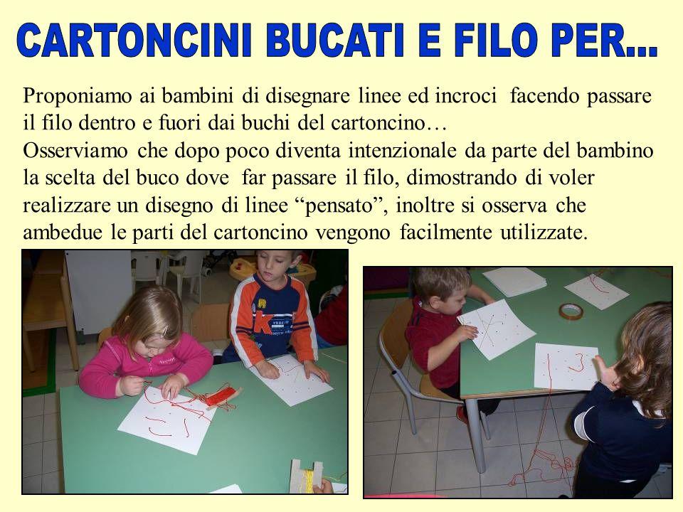 CARTONCINI BUCATI E FILO PER...