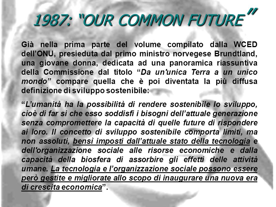1987: OUR COMMON FUTURE