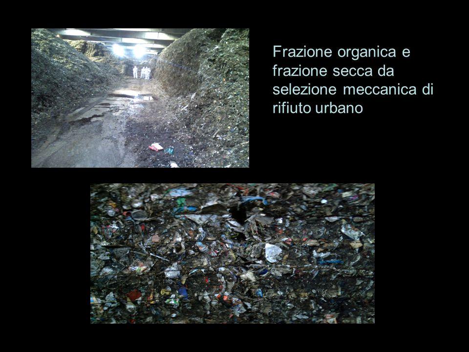 Frazione organica e frazione secca da selezione meccanica di rifiuto urbano
