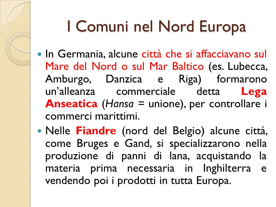 I Comuni nel Nord Europa