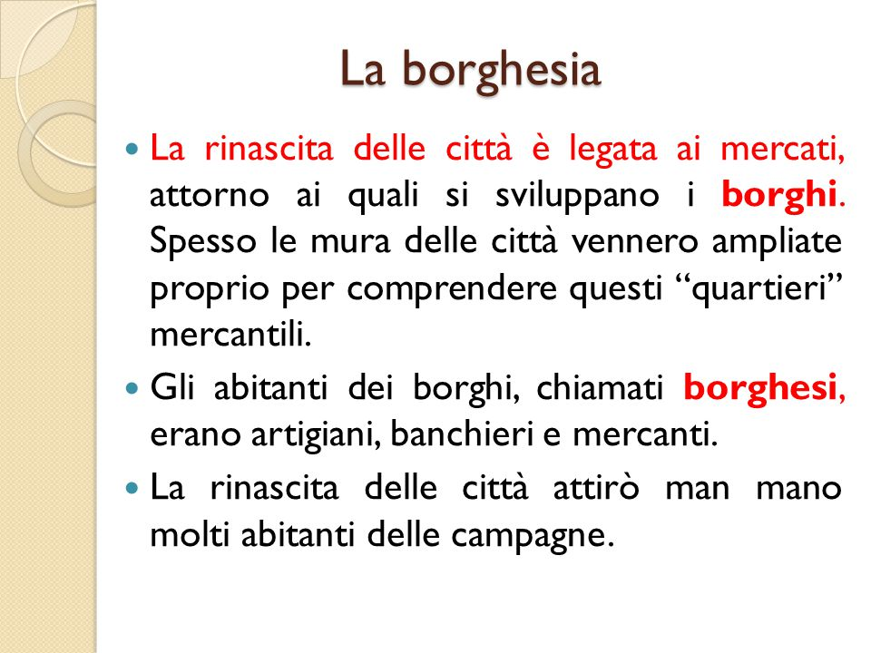 La borghesia