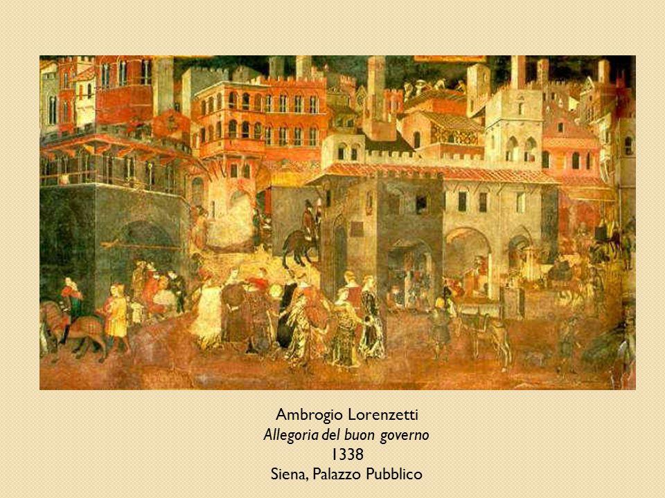 Allegoria del buon governo 1338 Siena, Palazzo Pubblico