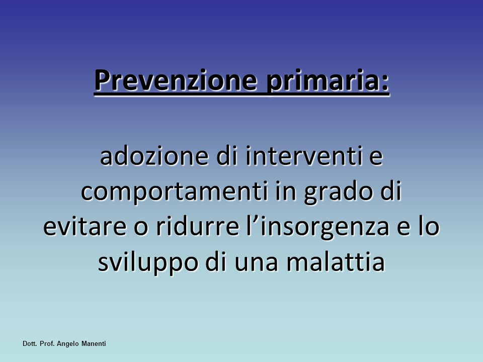 Dott. Prof. Angelo Manenti