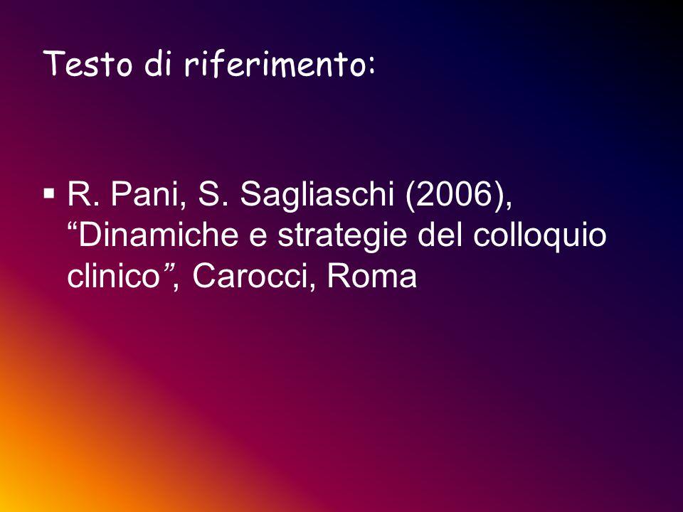Testo di riferimento: R. Pani, S.