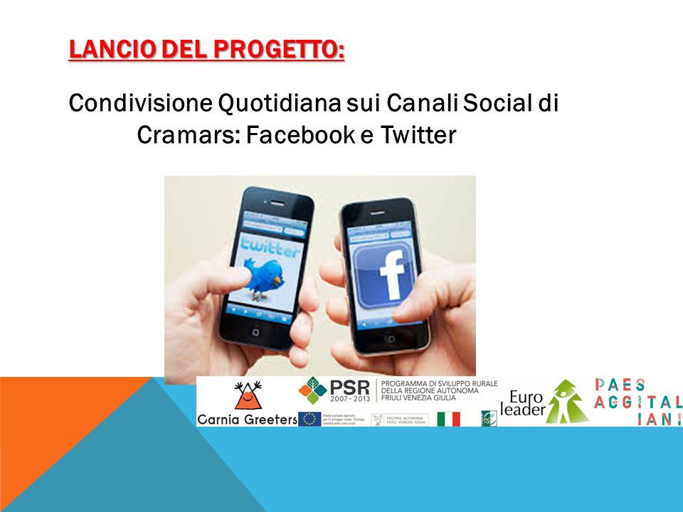 Lancio del progetto: Condivisione Quotidiana sui Canali Social di Cramars: Facebook e Twitter