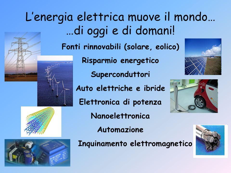 L'energia elettrica muove il mondo… …di oggi e di domani!