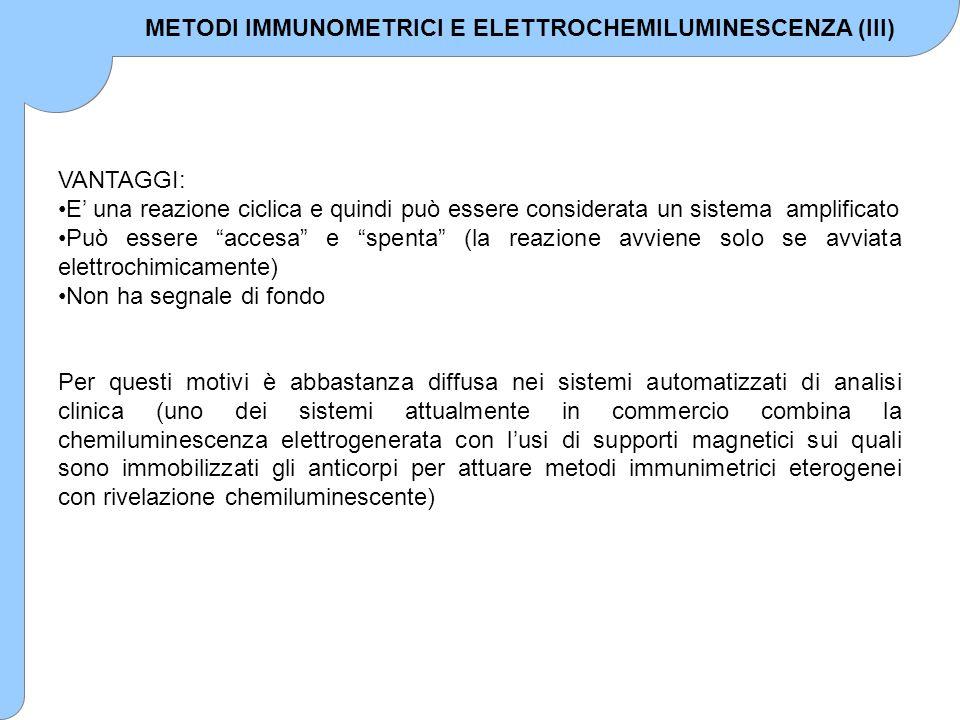 METODI IMMUNOMETRICI E ELETTROCHEMILUMINESCENZA (III)