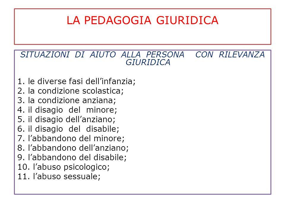 LA PEDAGOGIA GIURIDICA