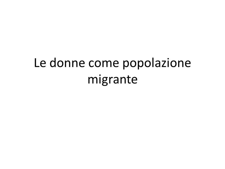 Le donne come popolazione migrante
