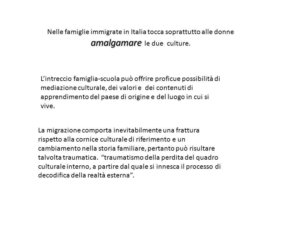 Nelle famiglie immigrate in Italia tocca soprattutto alle donne amalgamare le due culture.