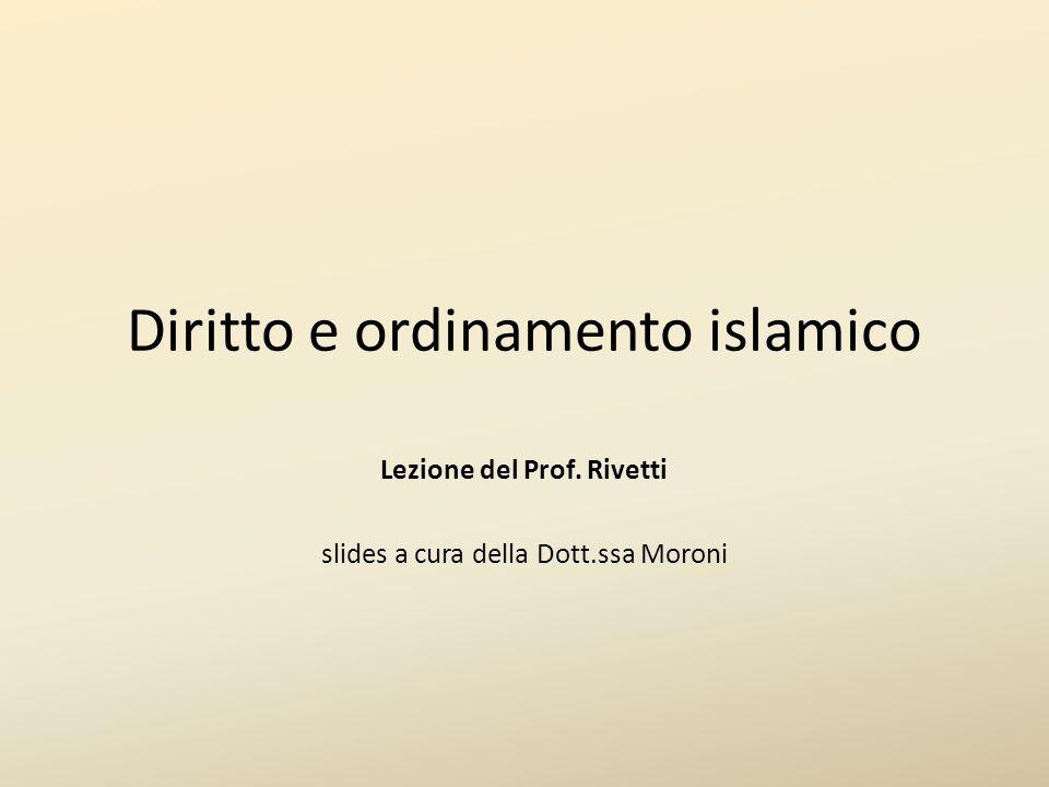 Diritto e ordinamento islamico