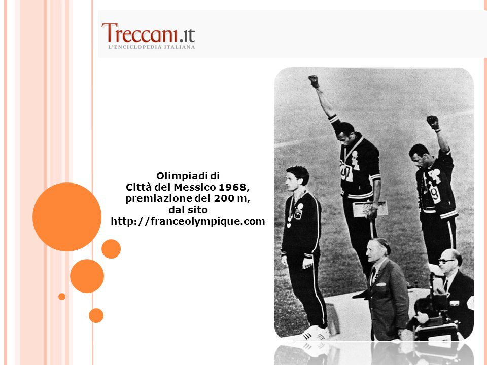 Città del Messico 1968, premiazione dei 200 m,