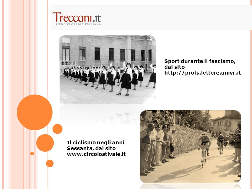 Sport durante il fascismo, dal sito http://profs.lettere.univr.it
