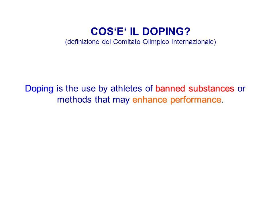 COS'E' IL DOPING (definizione del Comitato Olimpico Internazionale)