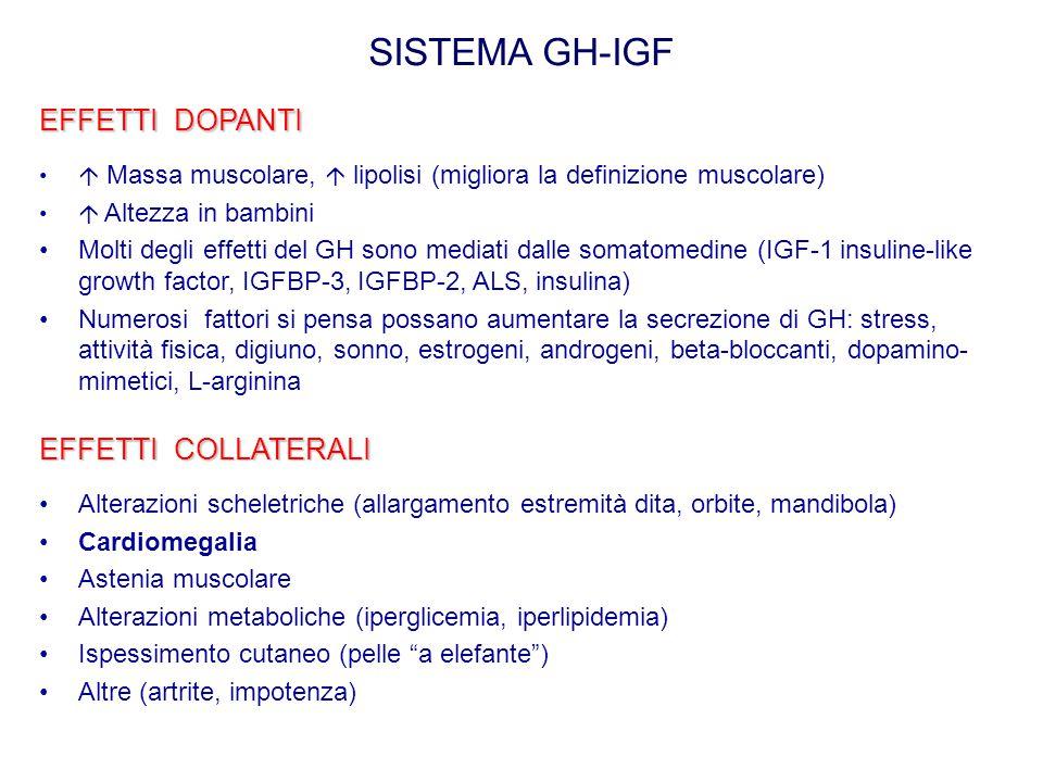 SISTEMA GH-IGF EFFETTI DOPANTI EFFETTI COLLATERALI