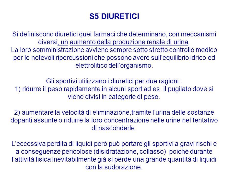 S5 DIURETICI
