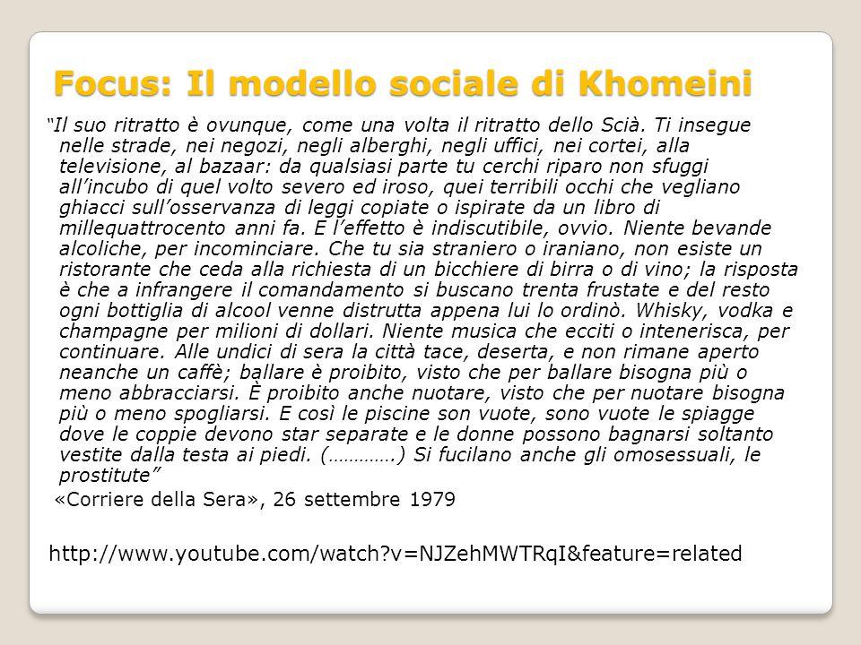 Focus: Il modello sociale di Khomeini