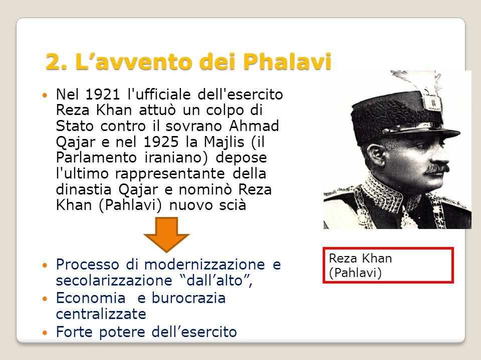 2. L'avvento dei Phalavi Reza Khan (Pahlavi)