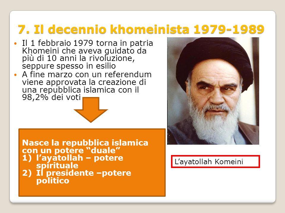 7. Il decennio khomeinista 1979-1989