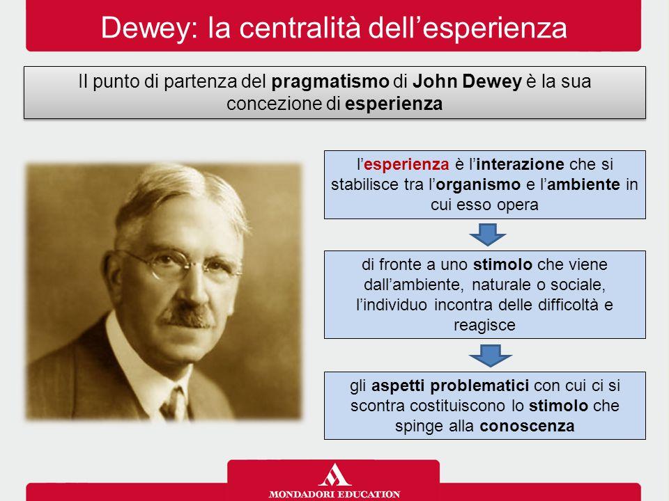 Dewey: la centralità dell'esperienza