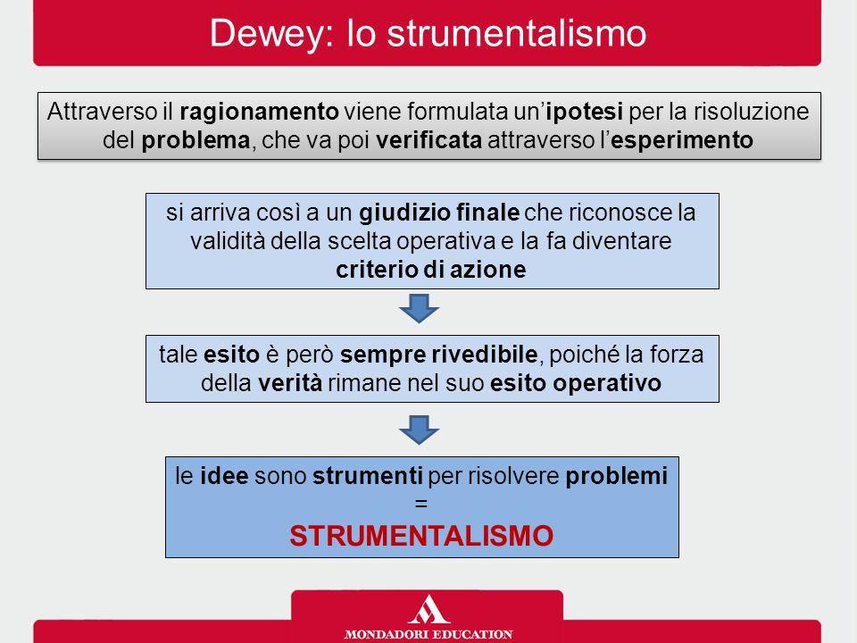 Dewey: lo strumentalismo