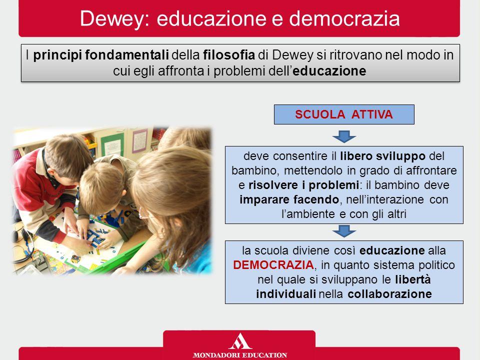 Dewey: educazione e democrazia
