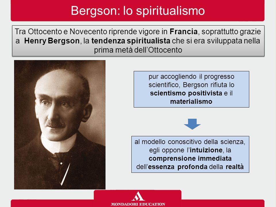 Bergson: lo spiritualismo