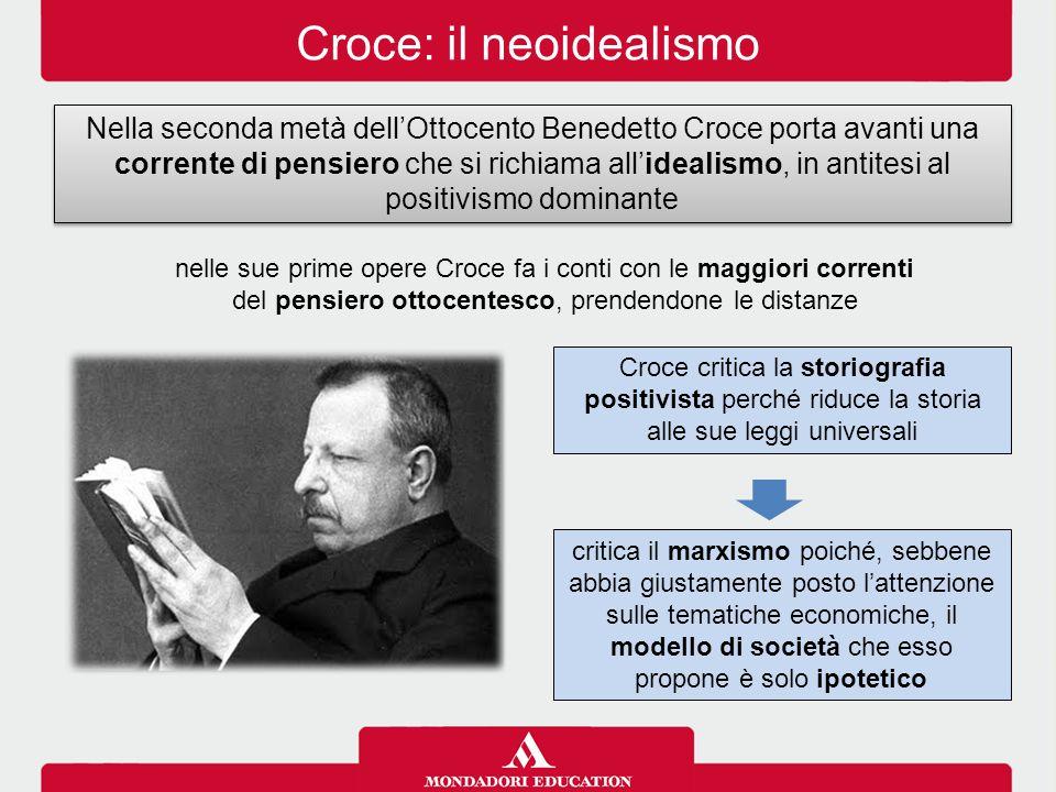 Croce: il neoidealismo