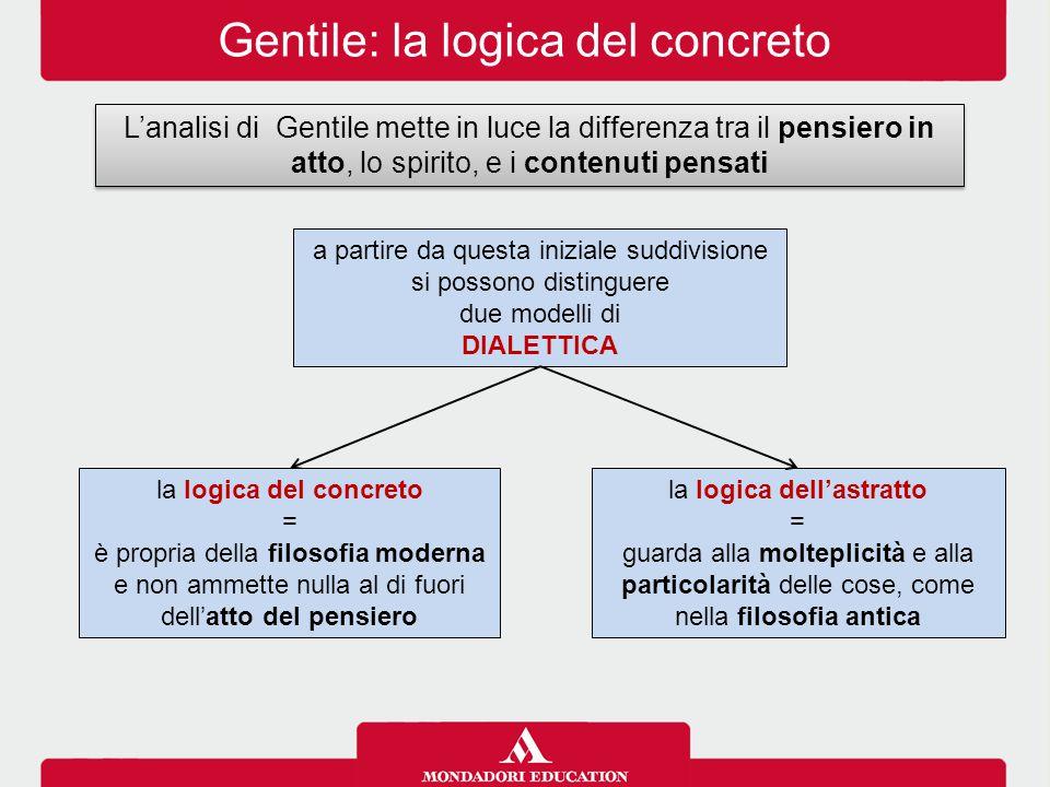 Gentile: la logica del concreto