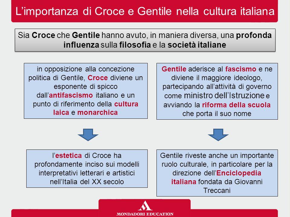 L'importanza di Croce e Gentile nella cultura italiana