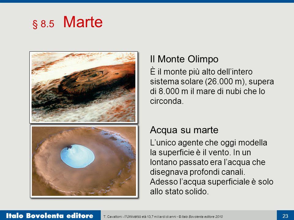 § 8.5 Marte Il Monte Olimpo Acqua su marte