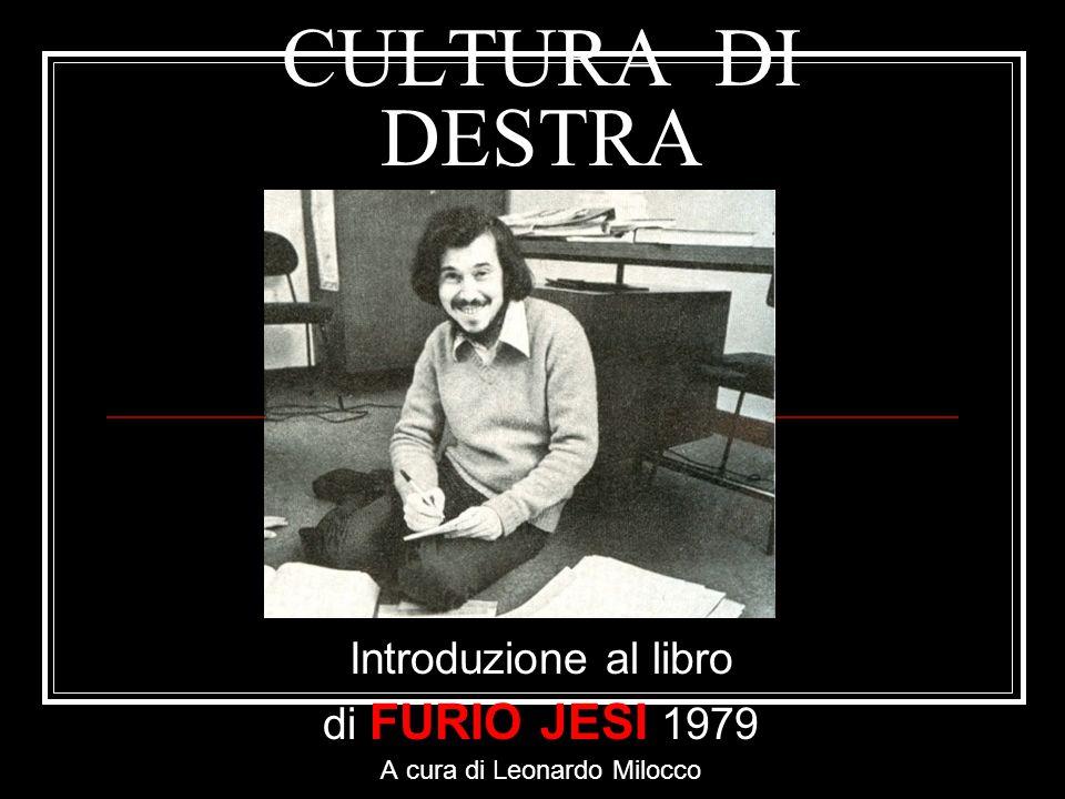Introduzione al libro di FURIO JESI 1979 A cura di Leonardo Milocco