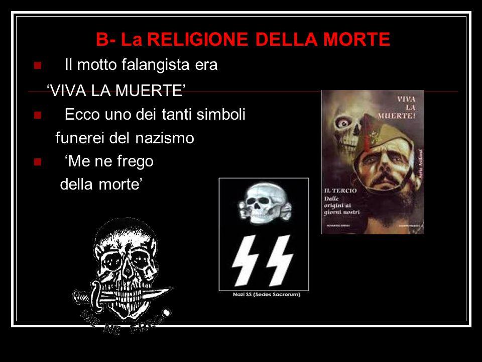 B- La RELIGIONE DELLA MORTE