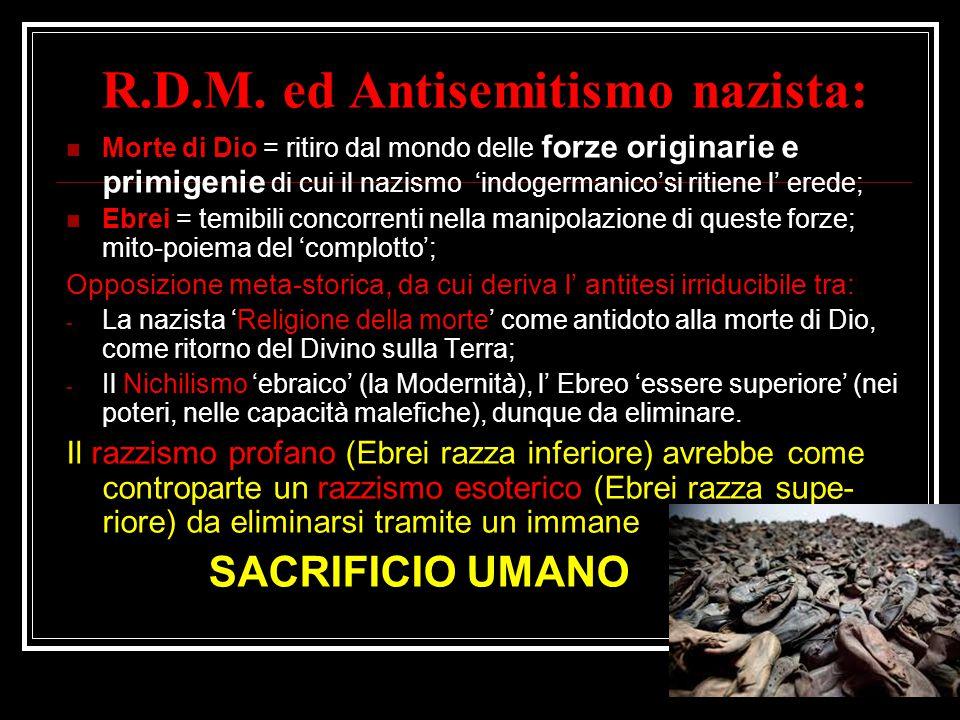 R.D.M. ed Antisemitismo nazista: