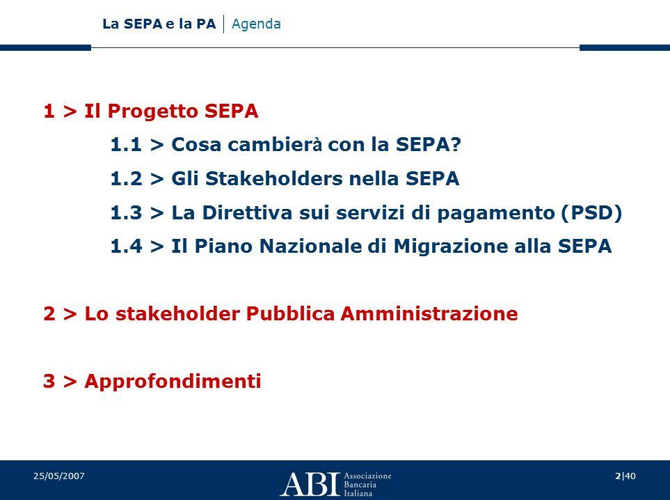 1.1 > Cosa cambierà con la SEPA