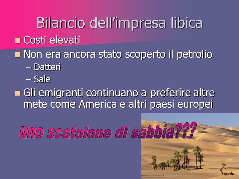 Bilancio dell'impresa libica