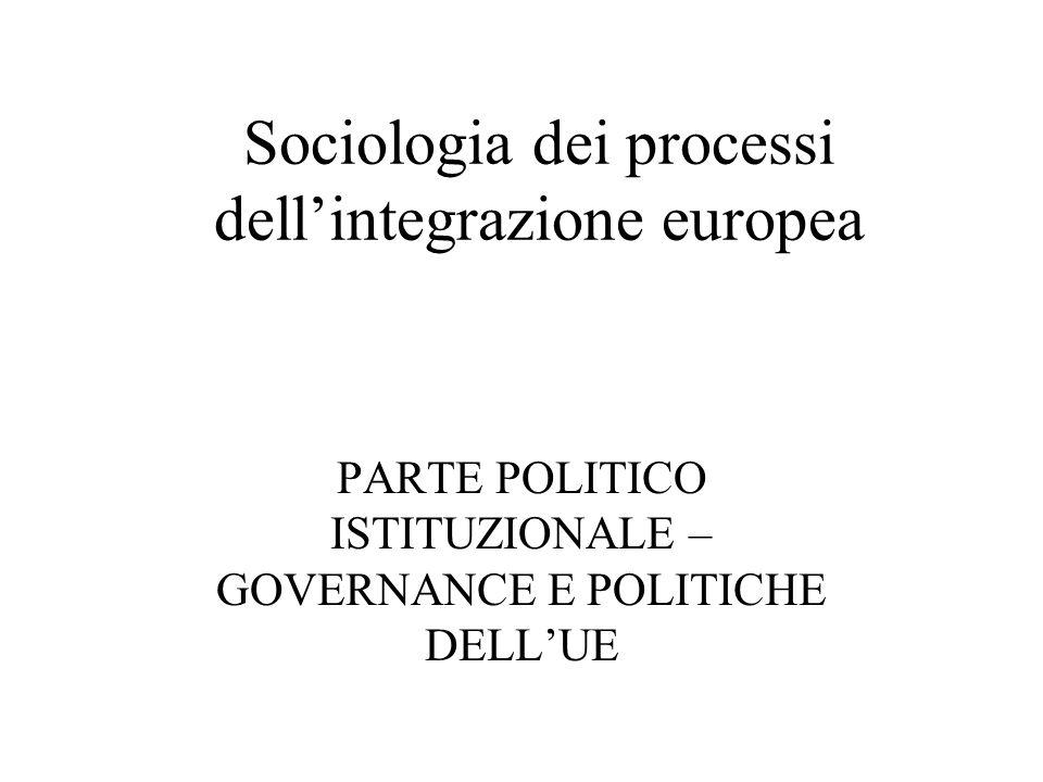 Sociologia dei processi dell'integrazione europea