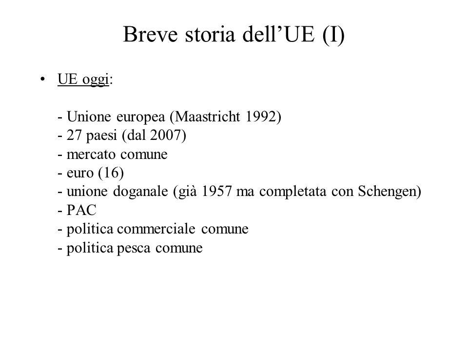 Breve storia dell'UE (I)