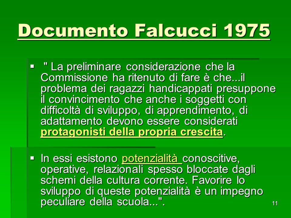 Documento Falcucci 1975