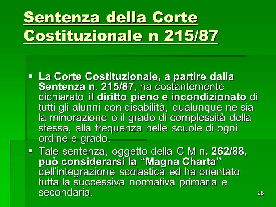 Sentenza della Corte Costituzionale n 215/87