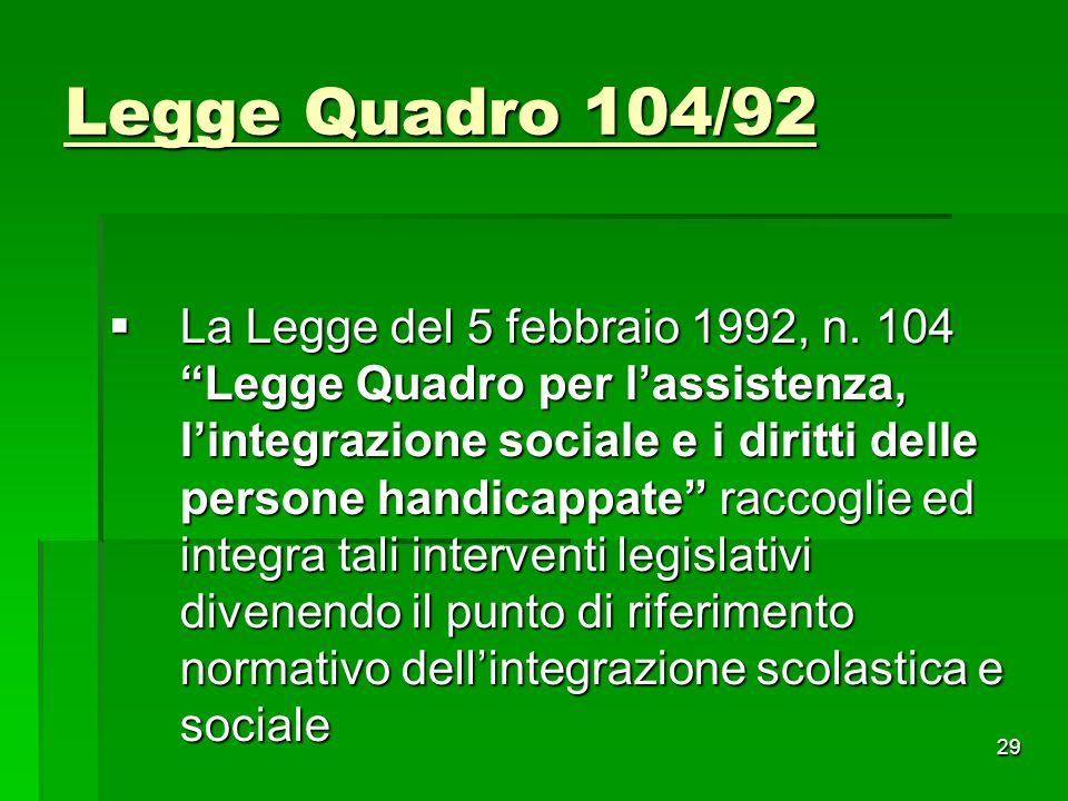 Legge Quadro 104/92