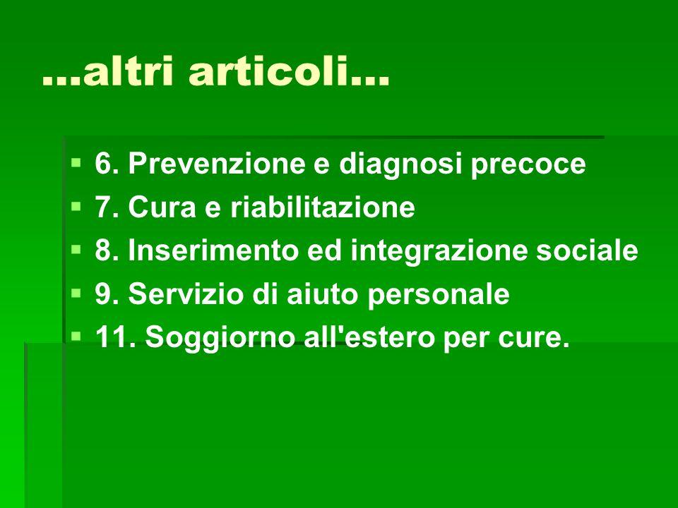 …altri articoli… 6. Prevenzione e diagnosi precoce