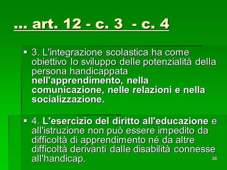 … art. 12 - c. 3 - c. 4