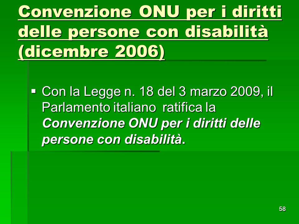 Convenzione ONU per i diritti delle persone con disabilità (dicembre 2006)