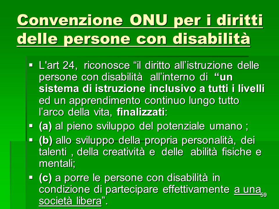 Convenzione ONU per i diritti delle persone con disabilità