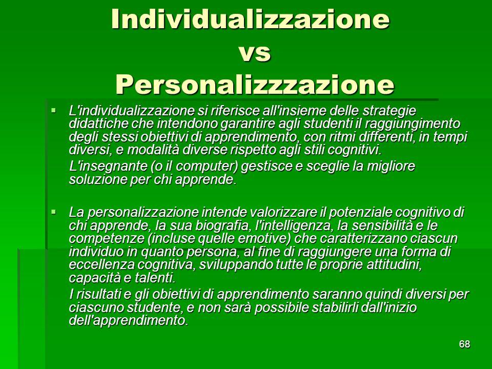 Individualizzazione vs Personalizzzazione