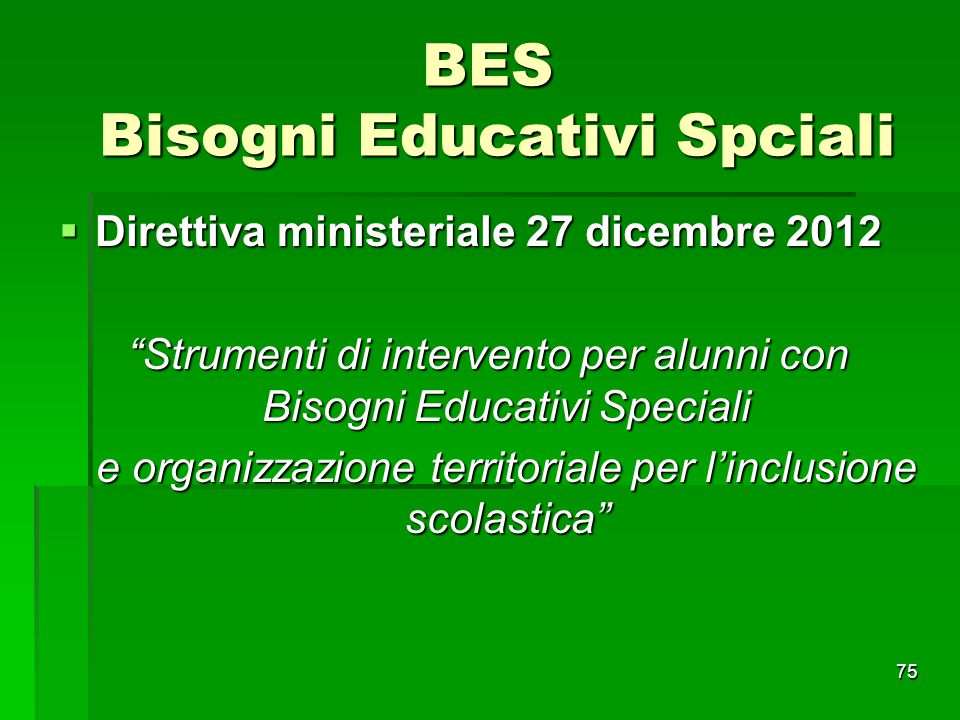 BES Bisogni Educativi Spciali