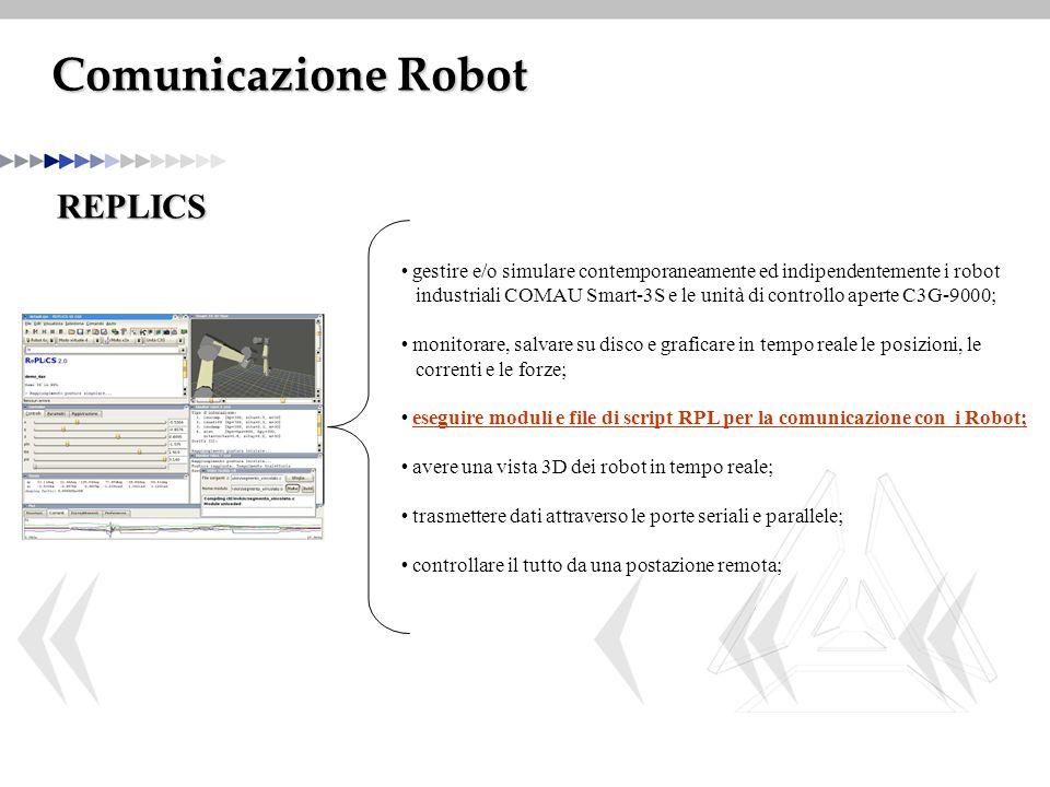 Comunicazione Robot REPLICS